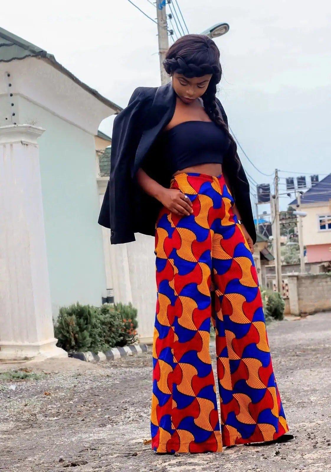 Ankara pants styles for ladies in Nigeria