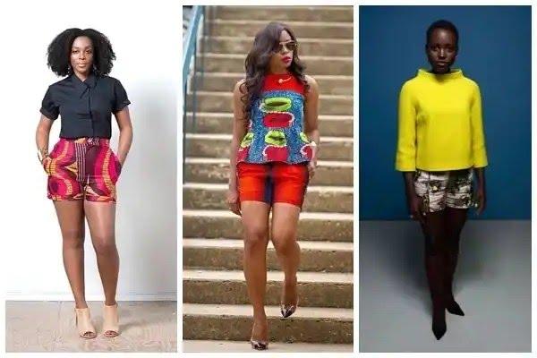 Latest Ankara styles for ladies in Nigeria - Shorts