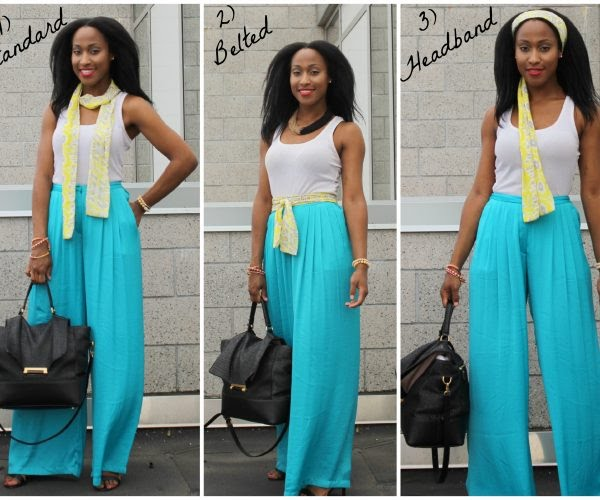 Scarf-Bene-palazzo-pants-How-to-wear-3-ways-Collage-600x500