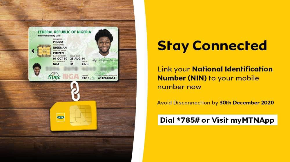 Linking NIN with MTN phone number