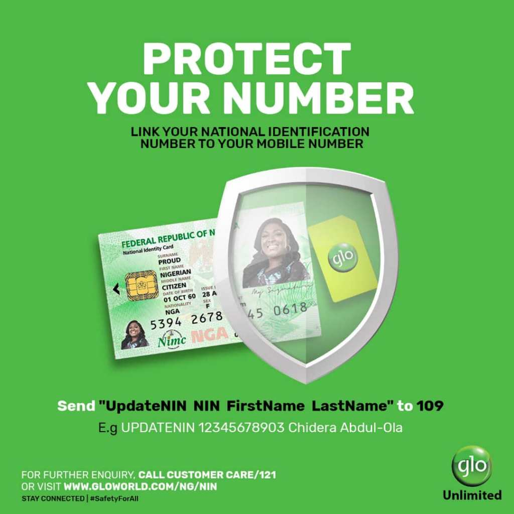 How to link NIN to Glo phone number.