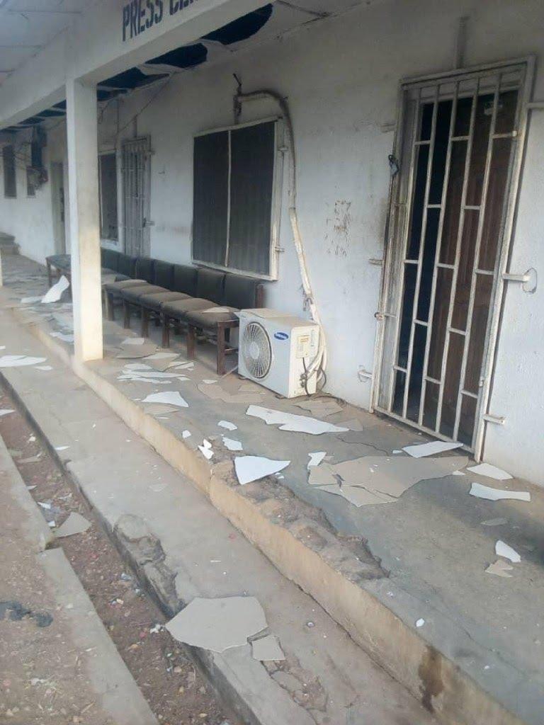 BREAKING: Explosion rocks Ekiti Govt House